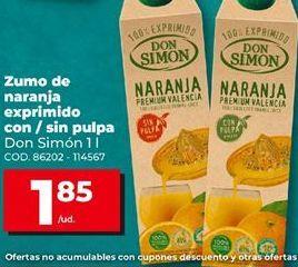 Oferta de Zumo de naranja Don Simón por 1,85€