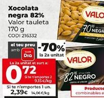 Oferta de Chocolate negro Valor por 2,39€