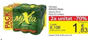 Oferta de Cerveza MAHOU Mixta  por 6,1€