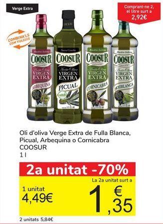Oferta de Aceite de oliva Virgen Extra Hojiblanca, Picual, Arbequina o Cornicabra  COOSUR por 4,49€