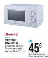 Oferta de Microondas BM020SM-20 Bluesky  por 45€