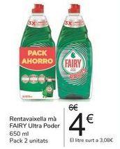 Oferta de Lavavajillas mano FAIRY Ultra Poder por 4€
