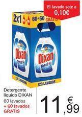 Oferta de Detergente líquido DIXAN  por 11,99€