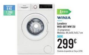 Oferta de Lavadora WVD-08TIWW12U WINIA  por 299€