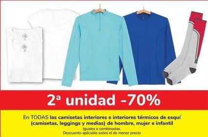 Oferta de En TODAS las camisetas interiores e interiores térmicos de esquí (camiseta, leggings y medias) de hombre, mujer e infantil  por