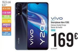 Oferta de Smartphone libre Y20S VIVO por 169€