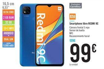 Oferta de Smartphone libre REDMI 9C  por 99€