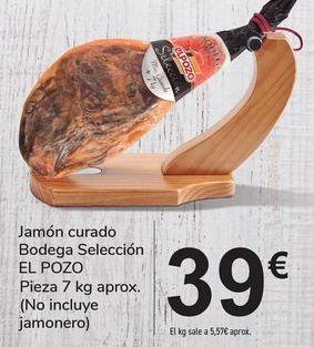 Oferta de Jamón curado9 Bodega Selección EL POZO por 39€