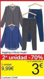 Oferta de Jegging o blusa mujer  por 9,99€
