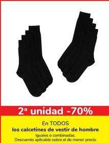 Oferta de En TODOS los calcetines de vestir de hombre, iguales o combinados  por