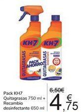 Oferta de Pack KH7 Quitagrasas + Recambio desinfectante  por 4,75€