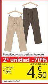 Oferta de Pantalón gomas Trekking Hombre  por 15€