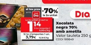 Oferta de Chocolate negro Valor por 3,79€