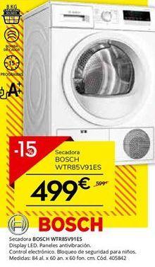 Oferta de Secadoras Bosch por 499€