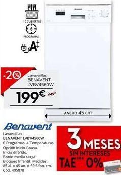 Oferta de Lavavajillas Benavent por 199€