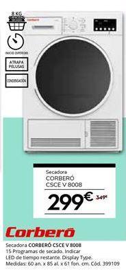 Oferta de Secadoras Corberó por 299€