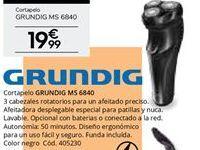 Oferta de Cortapelos Grundig por 19,99€