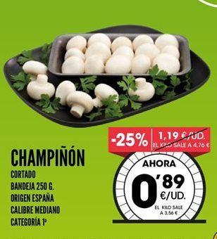 Oferta de Champiñones por 0,89€