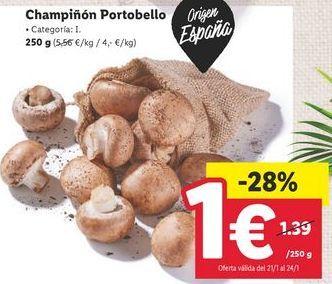 Oferta de Champiñones por 1€