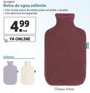 Oferta de Bolsa de agua caliente sensiplast por 4,99€