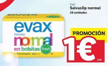 Oferta de Salvaslip Evax por 1€