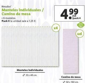 Oferta de Mantel individual Meradiso por 4,99€