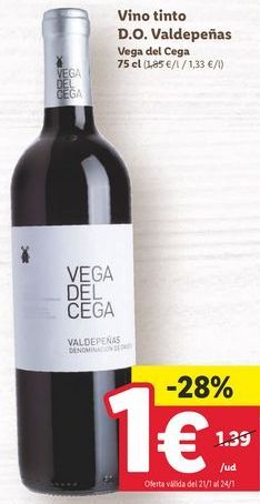 Oferta de Vino tinto por 1€
