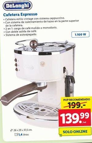Oferta de Cafeteras DeLonghi por 139,99€