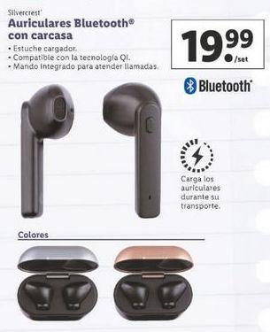 Oferta de Auriculares bluetooth SilverCrest por 19,99€