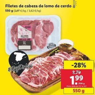Oferta de Cabeza de lomo por 1,99€
