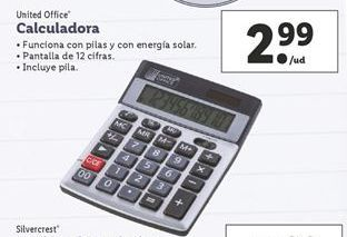 Oferta de Calculadora United Office por 2,99€