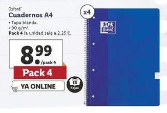 Oferta de Cuadernos Oxford por 8,99€