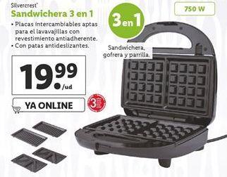 Oferta de Sandwichera SilverCrest por 19,99€