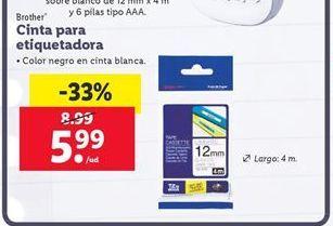 Oferta de Cinta para rotuladora Brother por 5,99€