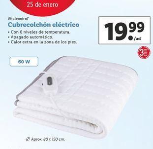 Oferta de Cubre colchón vitalcontrol por 19,99€