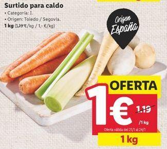 Oferta de Verdura por 1€
