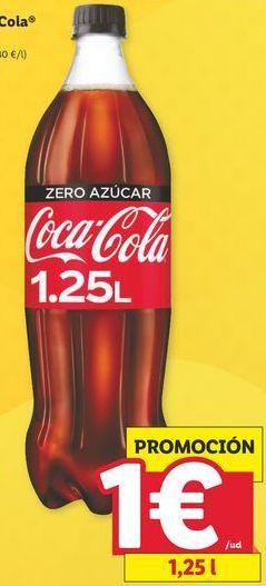 Oferta de Coca-Cola por 1€