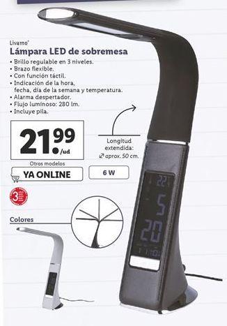 Oferta de Lámpara de mesa Livarno por 21,99€