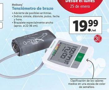 Oferta de Tensiómetro Medisana por 19,99€
