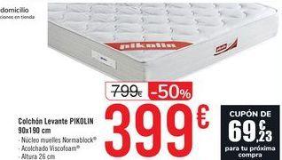 Oferta de Colchón Levante PIKOLIN 90x190 cm  por 399€