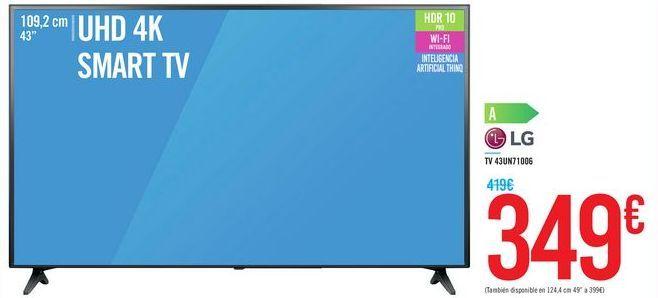 Oferta de TV 43UN71006 LG por 349€