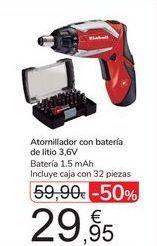 Oferta de Atornillador con batería de litio 3.6v por 29,95€