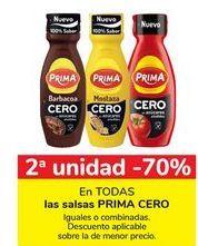 Oferta de En TODAS las salsas PRIMA CERO por