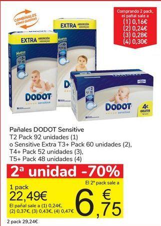 Oferta de Pañalaes DODOT Sensitive  por 22,49€