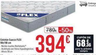 Oferta de Colchón Cuarzo FLEX 90x190 cm  por 394€