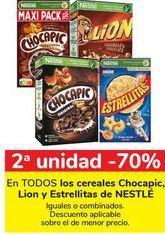 Oferta de En TODOS los cereales Chocapic, Lion y Estrellitas de NESTLÉ por