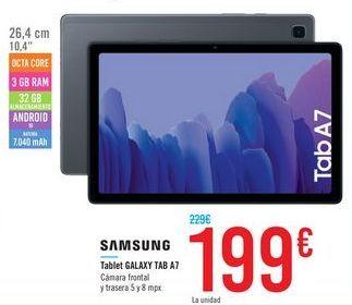 Oferta de SAMSUNG Tablet GALAXY TAB A7  por 199€