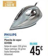 Oferta de `Plancha de vapor GC4566 PHILIPS por 45€