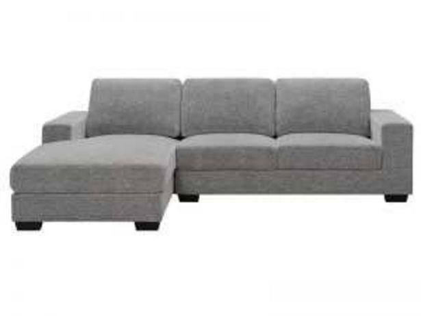 Oferta de Sofá 3PL+chaisselongue izquierda «UJ099I» gris claro por 490€