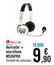 Oferta de Auricular + micrófono MSX6PRO NGS por 9,9€